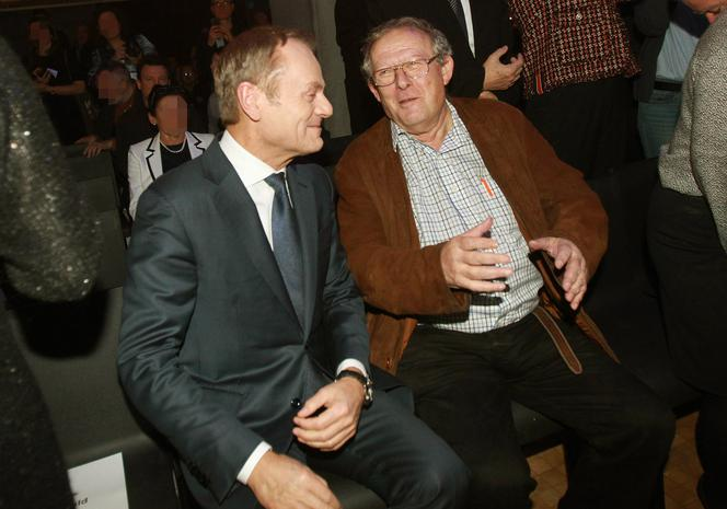 Donald Tusk i Adam Michnik