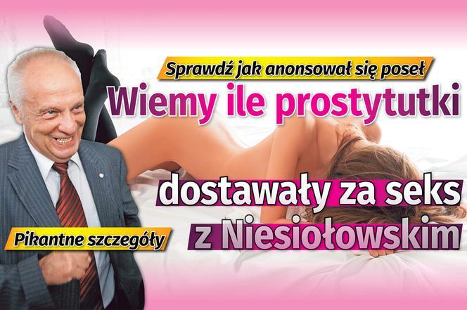 Wiemy ile prostytutki dostawały za seks z Niesiołowskim