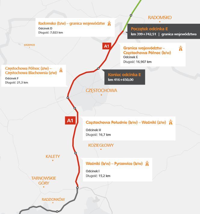 Autostrada A1 Autostrada Bursztynowa Aktualnosci Z Budowy