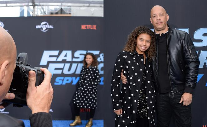 Vin Diesel i Similce Diesel na premierze Fast and Furious: Spy Racers