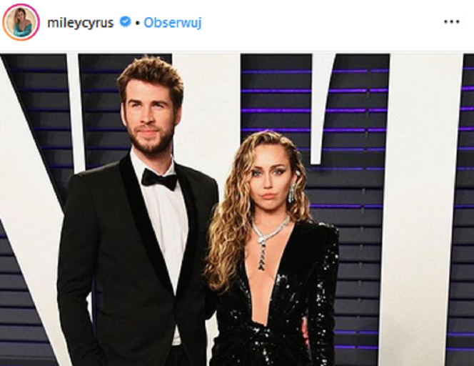 Miley Cyrus i Liam Hemsworth na Vanity Fair Oscars Party