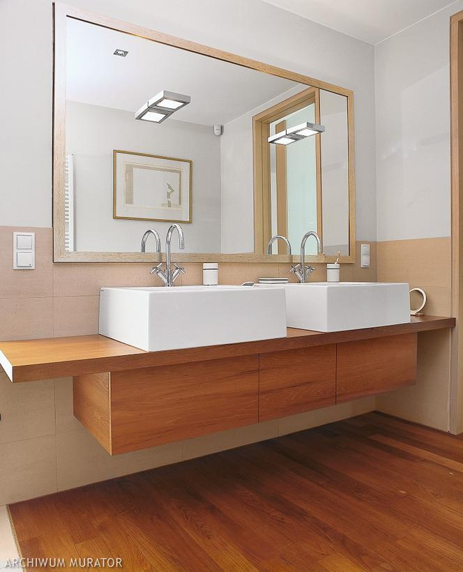 Efektowny I Trwały Blat łazienkowy Drewniany A Może