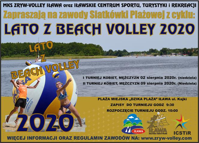 lato z beach volley 2020 plakat