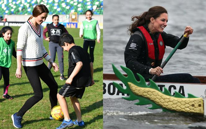 Kate Middleton na sportowo