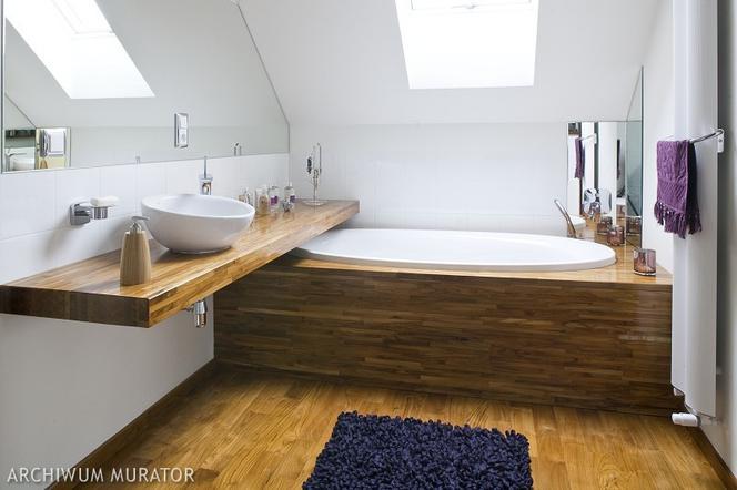 łazienka Na Poddaszu ładna Aranżacja łazienki Pod Skosami