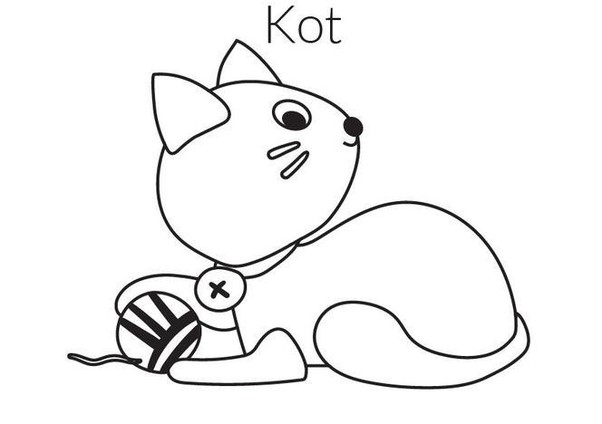 Kotek Kolorowanka Malowanka Kot Do Druku Mjakmama Pl