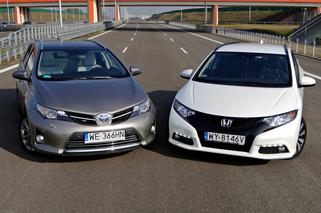Test Toyota Auris Touring Sports Vs Honda Civic Tourer Porownanie