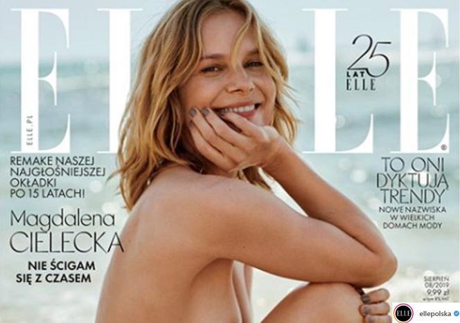 934311f8f27deb Magdalena Cielecka topless na okładce Elle! Odtworzyła zdjęcie ...