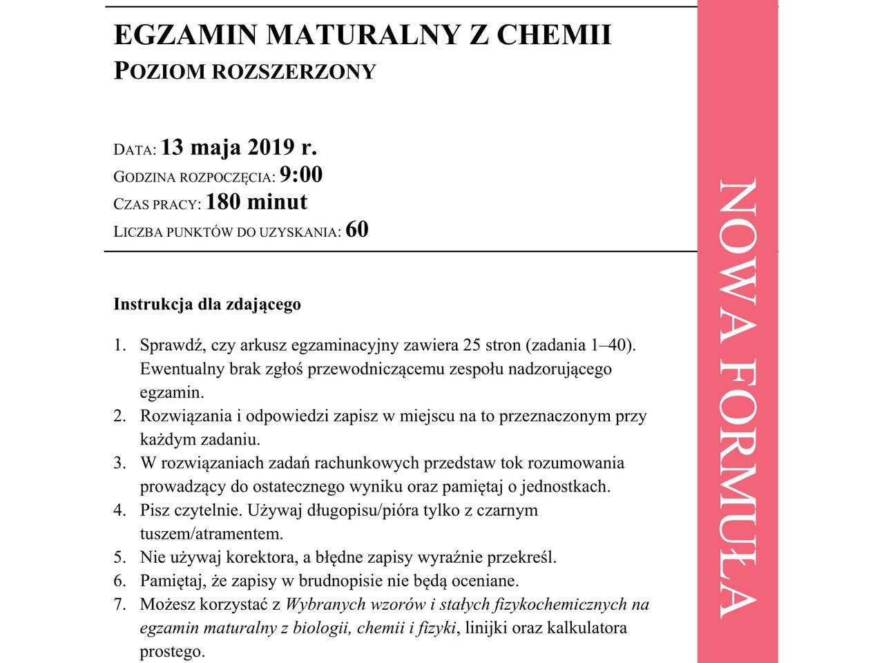 matura chemia rozszerzona 2021 arkusz