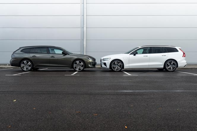 Volvo V60 T8 Twin Engine AWD R-Design AT8 vs. Peugeot 508 SW GT 2.0 BlueHDI 177 KM AT8