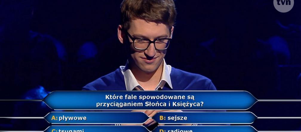 Fale spowodowane przyciąganiem Słońca i Księżyca to... Odpowiedź na pytanie z Milionerów - ESKA.pl