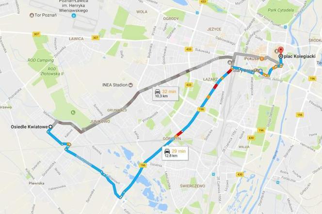 Mapa Google Podpowie Jak Poruszac Sie Po Poznaniu Komunikacja