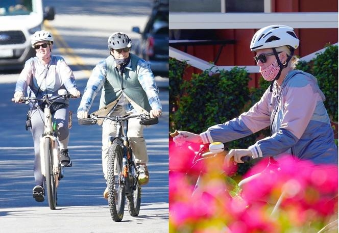 Katy Perry i Orlando Bloom na rowerach