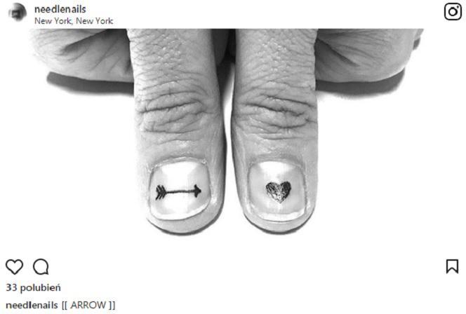 Instagram Tatuaże Na Paznokciach To Nowy Trend Czy Są