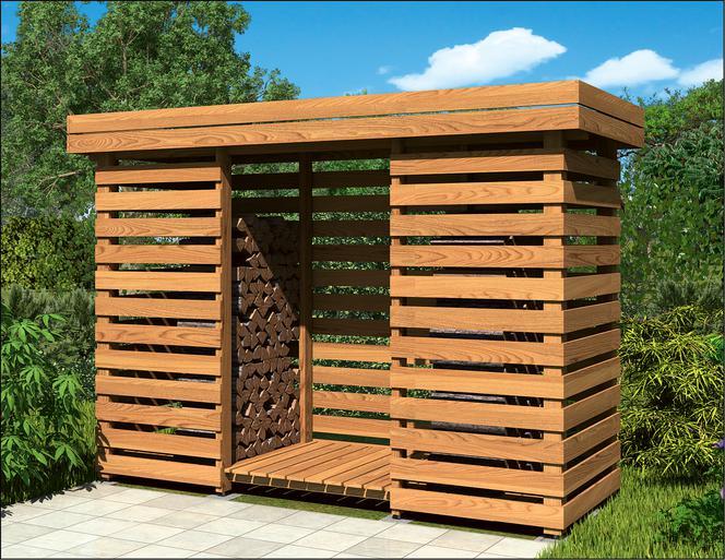 Projekty altan i szop na drewno