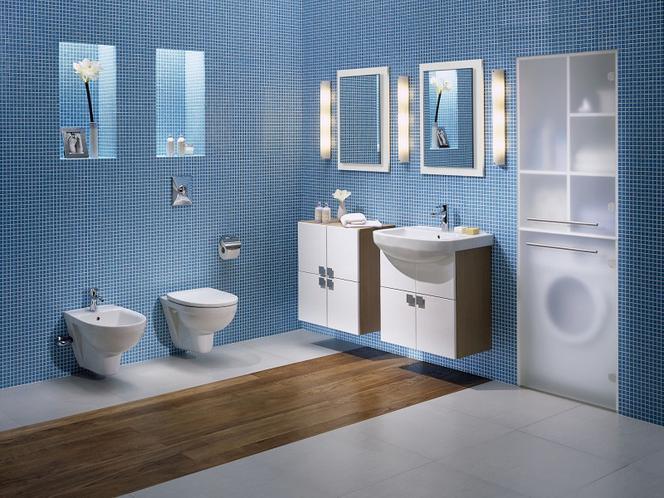 Niebieska łazienka Z Kolorowymi Kamykami Muratorpl