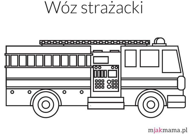 Wóz Strażacki Kolorowanka Pobierz Wóz Strażacki Do Kolorowania Mjakmama Pl