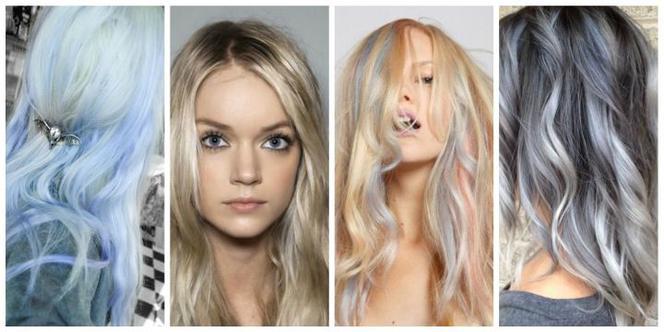 68c04ba3f943cb Najmodniejsze KOLORY WŁOSÓW na lato 2015: siwy i blond z odcieniami  niebieskiego