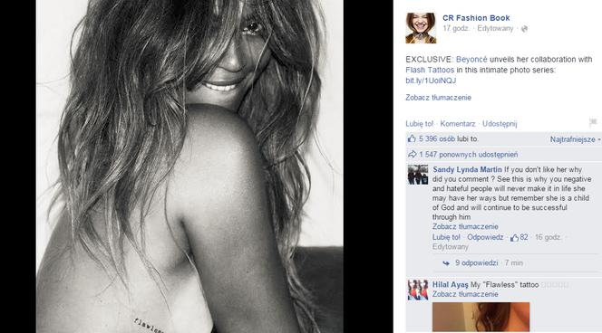 Beyonce Ma Nowe Tatuaże A Nawet Całą Kolekcję Nowa Moda