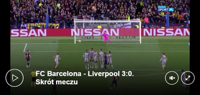 skrot meczu barcelona liverpool