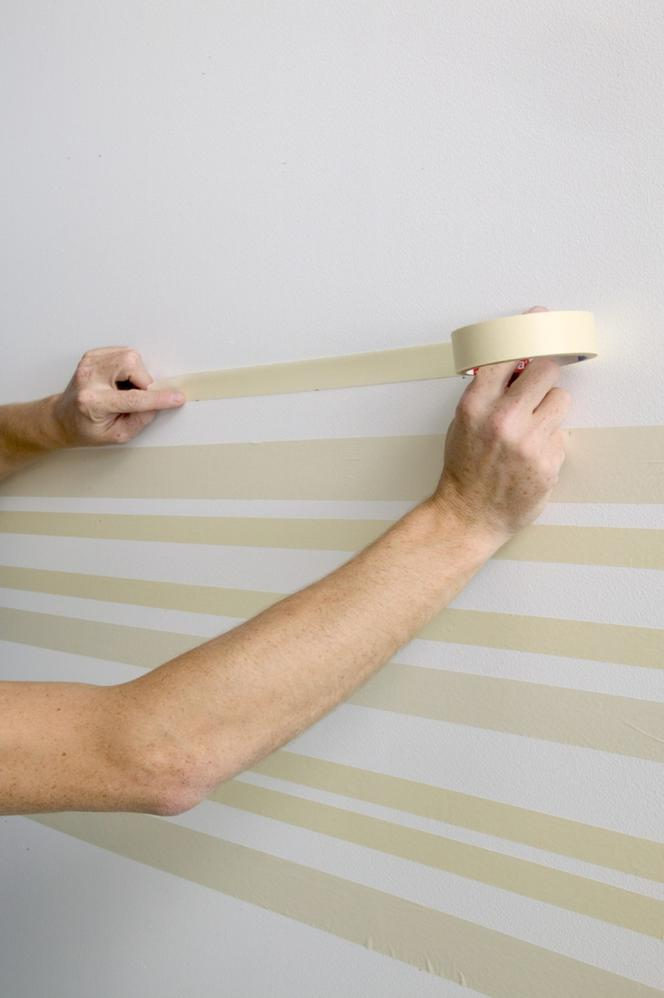 Wzory Na ścianie Jak Namalować Pasy Na ścianie Dekoracyjne