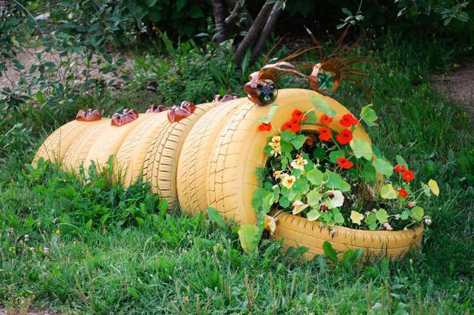 Ozdoby Z Opon Do Ogrodu Jak Można Wykorzystać Opony W
