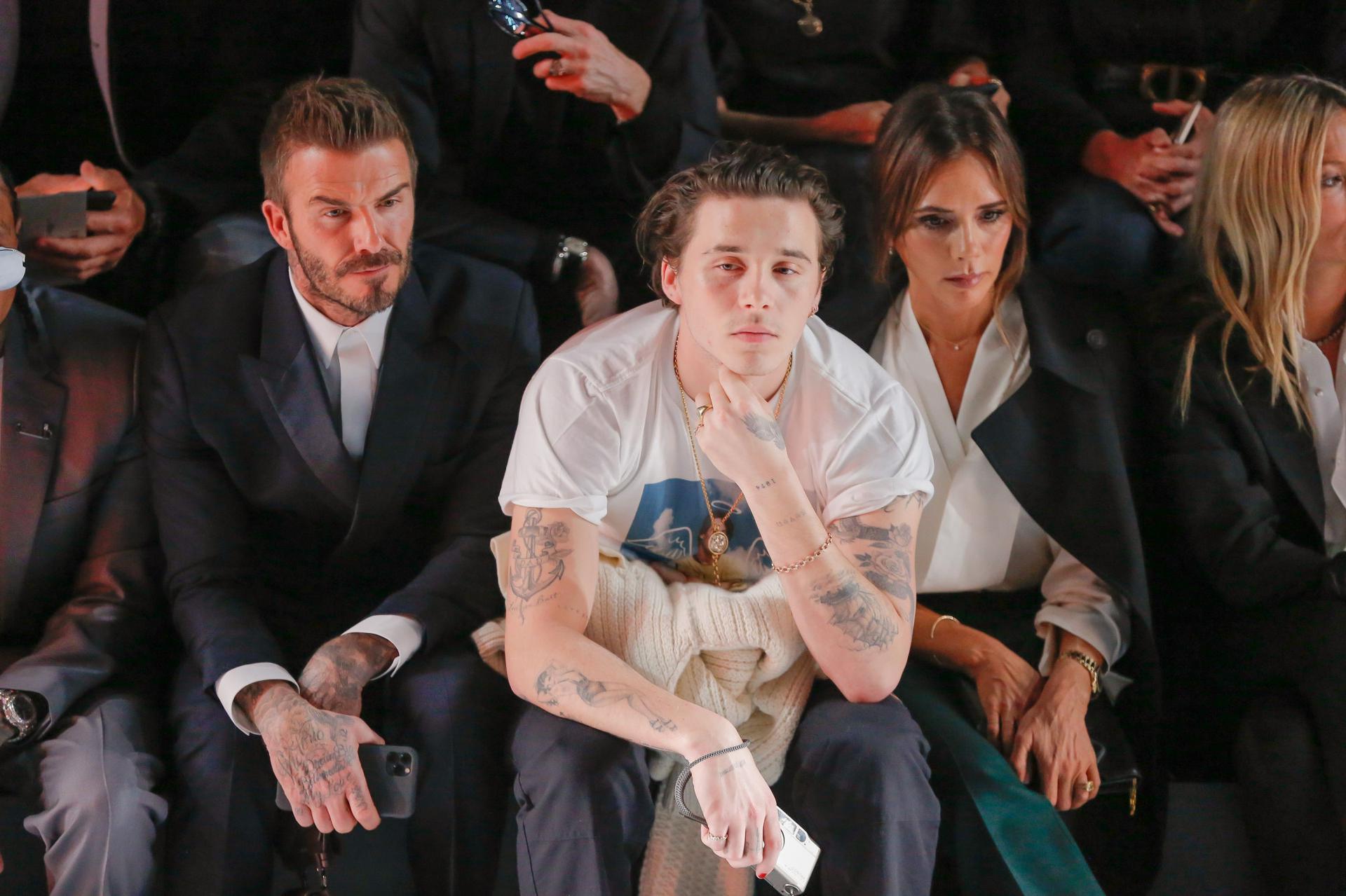 Image result for Brooklyn Beckham & Victoria Beckham