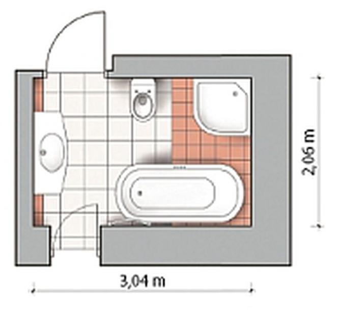 Projekty łazienek O Powierzchni Od 4 Do 7 Mkw Jak