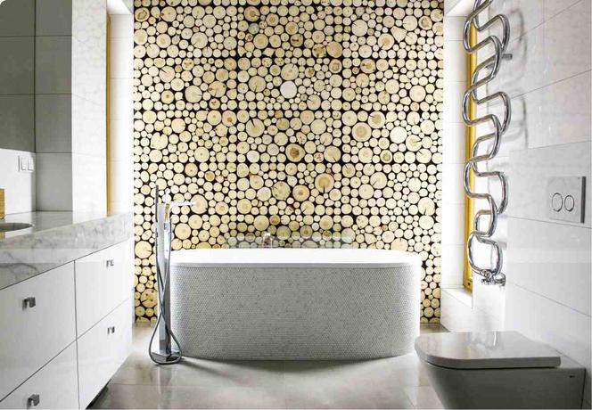 Aranżacja łazienki Z Drewnem Na ścianie Muratorpl