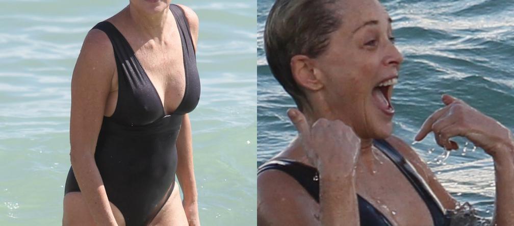 06d08ae6fa23a9 Sharon Stone w stroju kąpielowym i bez makijażu! Wygląda na 59 lat? W  życiu! - ESKA.pl