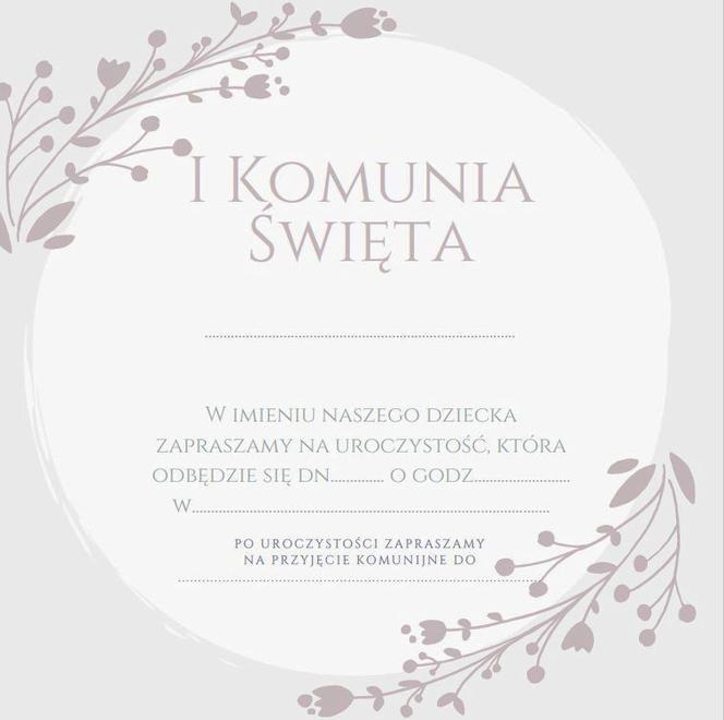 b38edceb9a Zaproszenia na komunię - gotowe wzory do wydrukowania - Mjakmama.pl