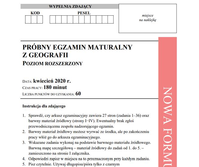 matura geografia 2009 odpowiedzi cke