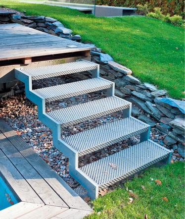 Poważnie Schody do domu. Z czego zbudować schody zewnętrzne i jak to zrobić GD27