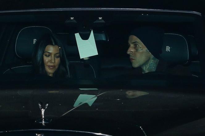 Kourtney Kardashian i Travis Barker na kolacji