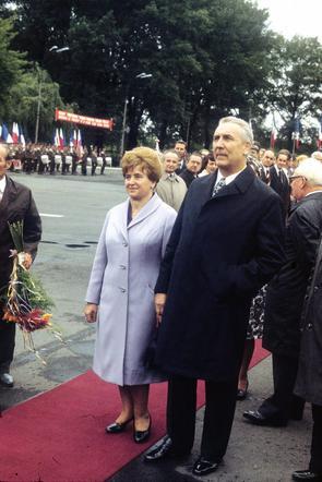 Edwar Gierek z żoną Stanisławą