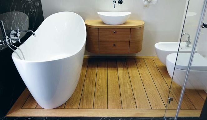 Pomysł Na Podłoge W łazience Deski Podłogowe Jak Pokład