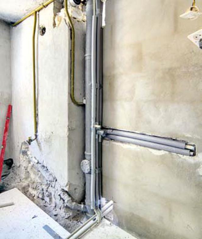 Instalacja Wodna Rozprowadzenie Rur Do Wody W Remontowanej