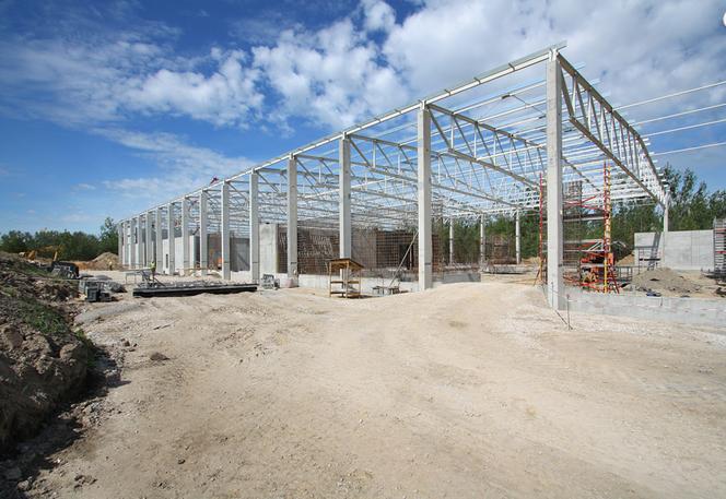 Poważne Budowa hali. Posadowienie pod budowę hali stalowej, murowanej ON13