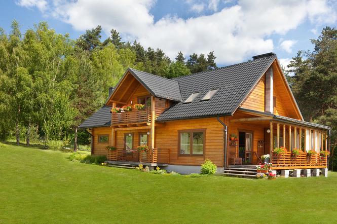 Dom Drewniany Z Bali Sosnowych Muratorpl