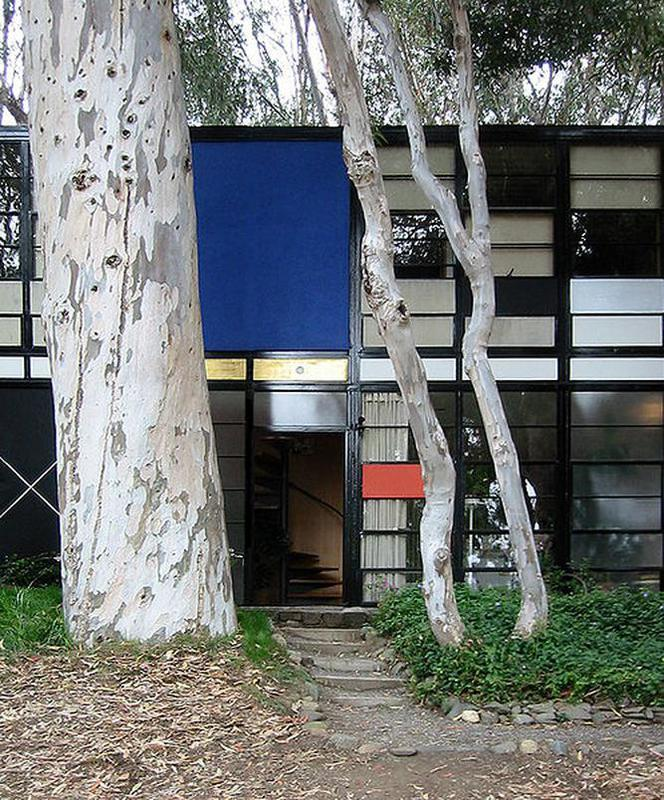The Eames House, wejście.