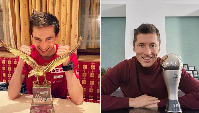 Kamil Stoch i Robert Lewandowski