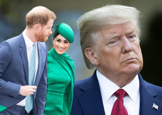 Meghan Markle i książę Harry, Donald Trump