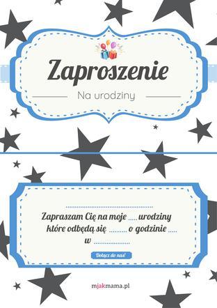 7f22438af1e29f Zaproszenie na urodziny: zaproszenia urodzinowe do druku [PDF ...