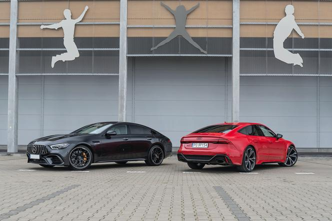 Audi RS7 Sportback 4.0 TFSI V8 vs. Mercedes-AMG GT 4-Door Coupe 63 S 4MATIC+