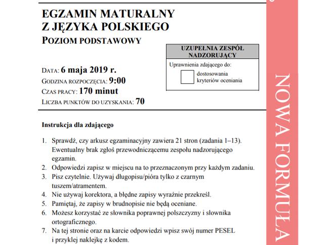 matura rozszerzona polski wypracowanie