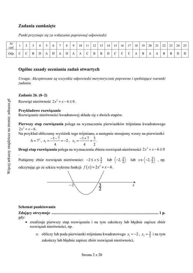 matura próbna matematyka 2021 pdf