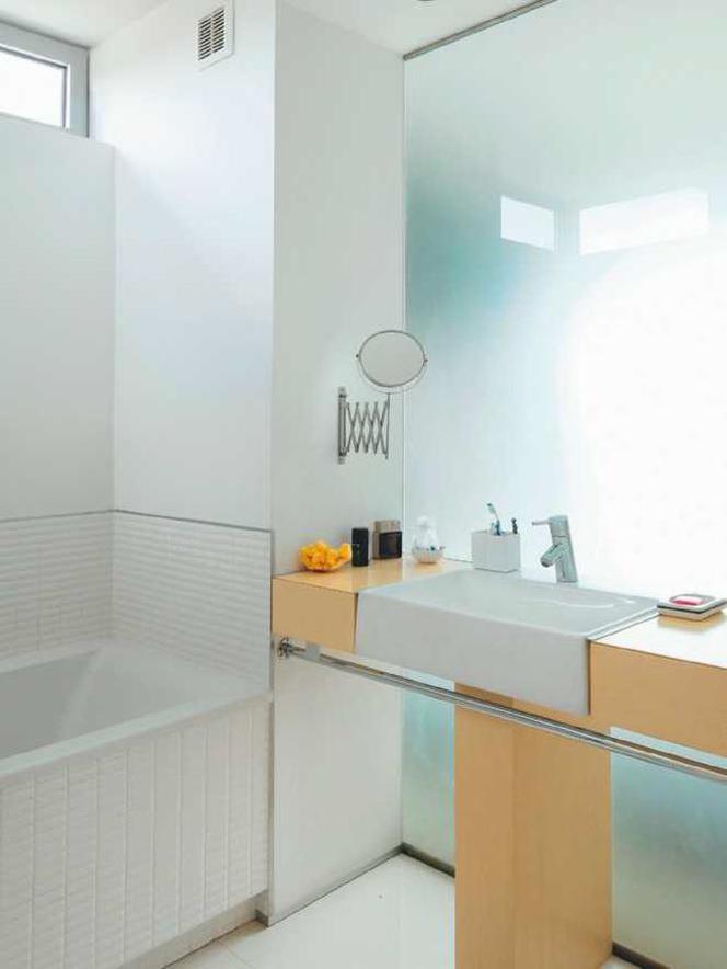 ściana Ze Szkła W Małej łazience Szklane Przepierzenie