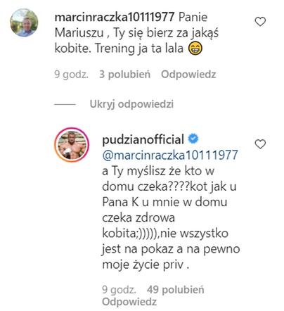 Mariusz Pudzianowski na pytanie o kobietę