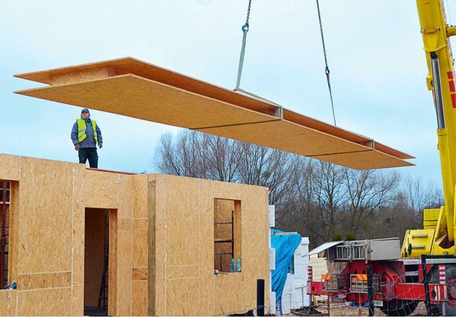 Bardzo dobryFantastyczny Dom prefabrykowany z płyt drewnopochodnych: ekspresowa budowa domu ZT87