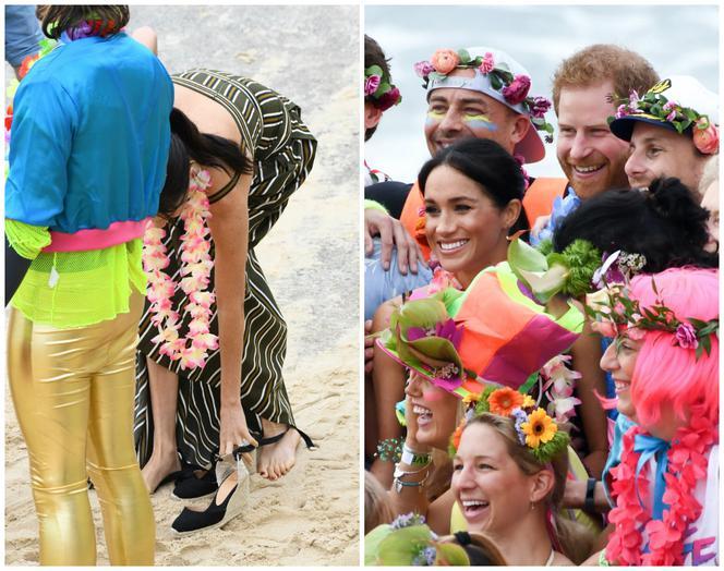 Meghan Markle and Prince Harry on the beach in Sydney